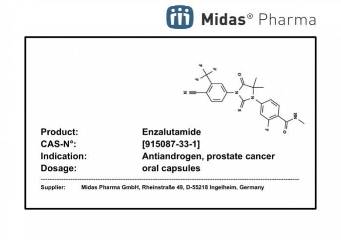 Enzalutamida - Enzalutamida, 915087-33-1, anticancerígeno, antiandrogénico