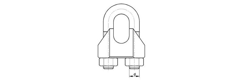 Wire rope clips - Wire rope clips similar to DIN 741
