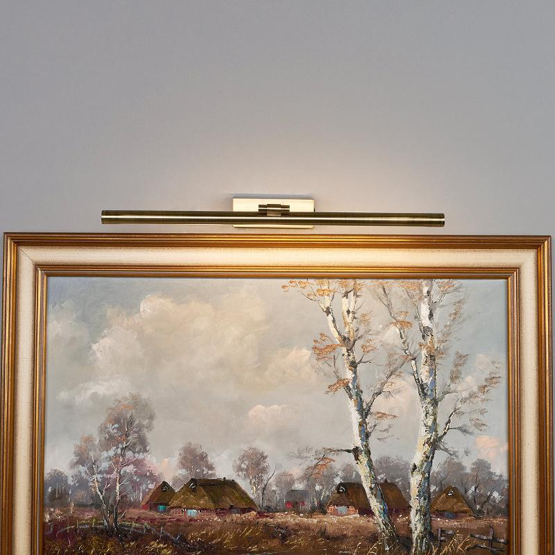 Applique tableau LED Merte en laiton ancien - Appliques à tableaux