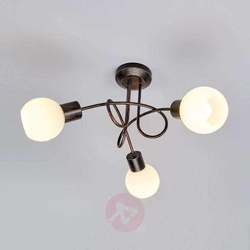 3-bulb LED ceiling light Elaina in auburn - Ceiling Lights
