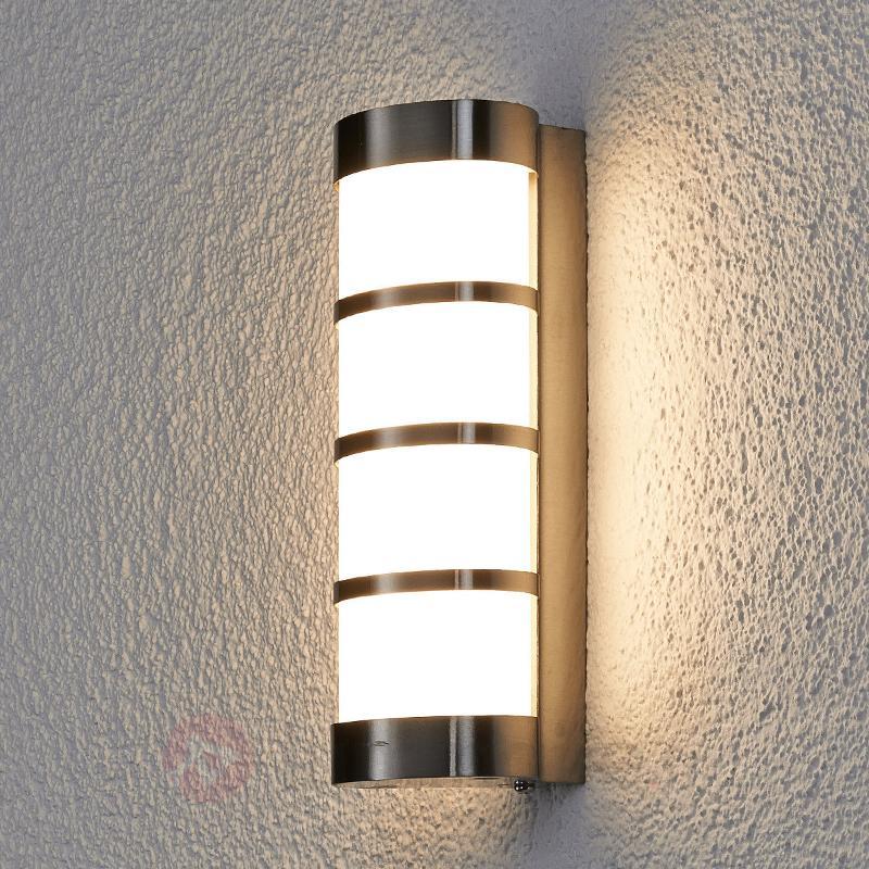 Applique d'extérieur LED Leroy en inox - Appliques d'extérieur LED