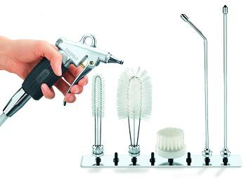 Brush Set to use with Dina & Nova Rinsing Gun - Brush set for cleaning medical equipment and instruments. Deconstructable.