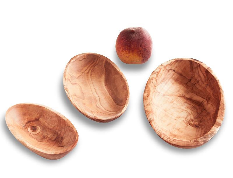 Ovale Schale aus Olivenholz