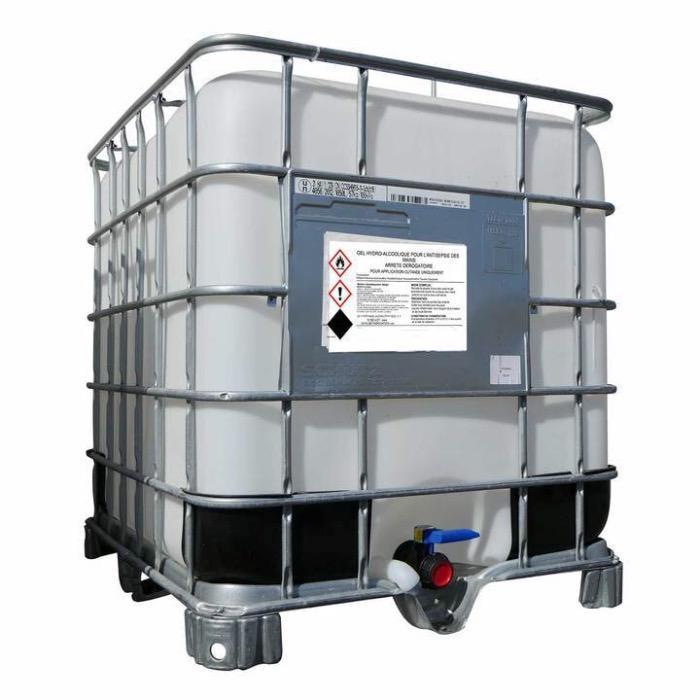 Cuve IBC gel hydroalcoolique 1000L -