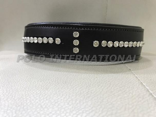 Crystal leather dog collar - Comfort Dog collar