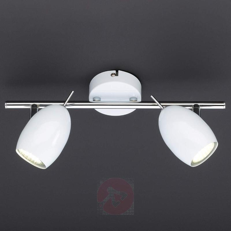 Quincy LED ceiling light with 2 bulbs in white - Ceiling Lights