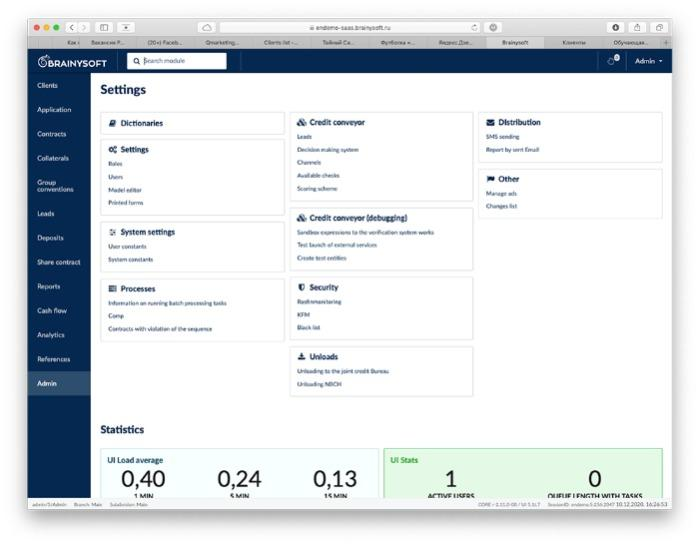 SaaS platform to run Microfinance Institution - Brainysoft performs the functions of an automated full-cycle credit pipeline