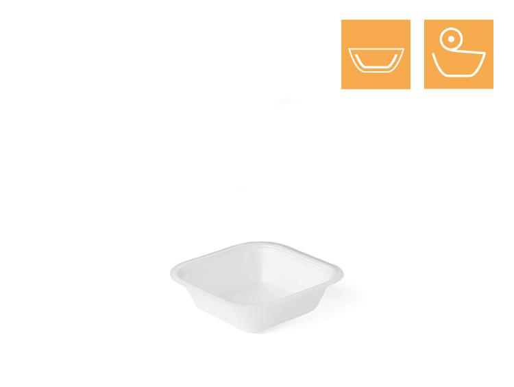 Soup tray 1781, rectangular, laminated - EPS Sealing trays