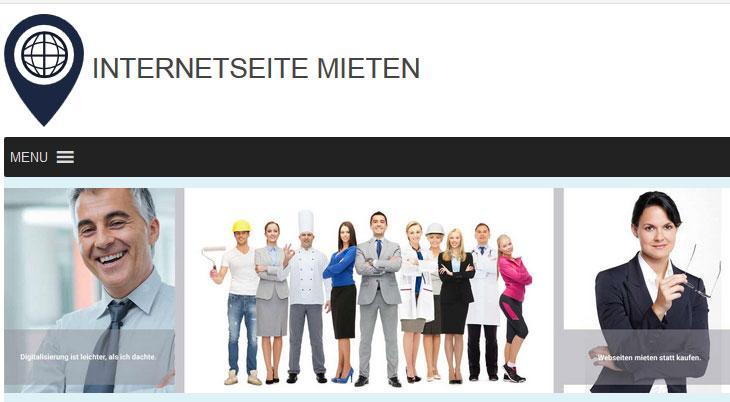 Internetseite mieten - Sorglos - Paket: Domain registrieren & Webseite mieten