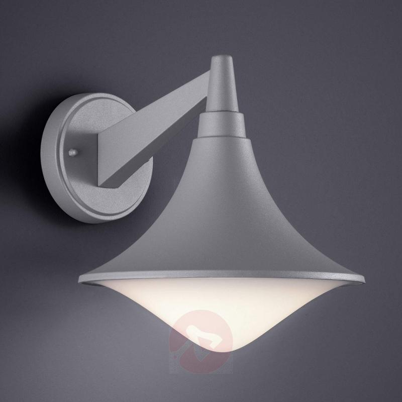 Titanium-coloured LED outdoor wall light Loire - outdoor-led-lights