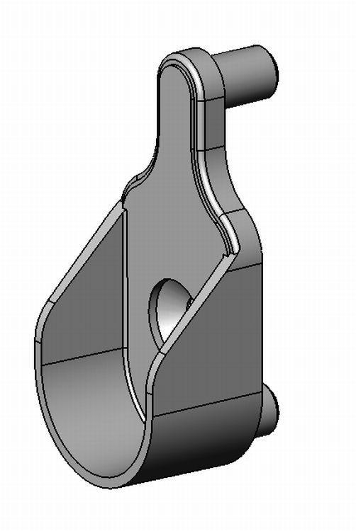 Schrankrohrlager - Zamak - 5mm - 2 Zapfen - blank - Schrankrohrlager