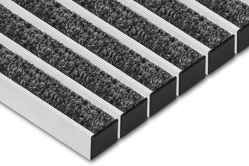 Wycieraczka obiektowa - Wycieraczki aluminiowe wewnętrzne Osuszajace
