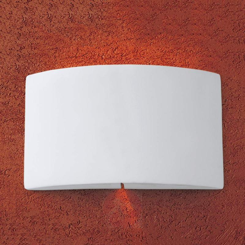 Rosita Wall Light Paintable Made of Plaster - Wall Lights