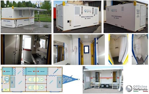 Sanitär-Container - mobiler Sanitär-Container (WC+Duschen) auf Anhänger