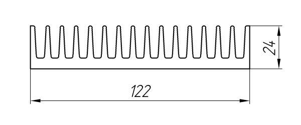 Aluminum Profile For Cooling Radiators Ат-2345 - Aluminum profile for cooling radiators