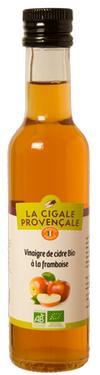 Vinaigre de Cidre Biologique Aromatisé à la Framboise  - 5 % d'acidité La Cigale Provençale