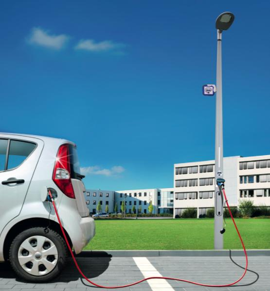 Smartpole charger - EV charger in lighting pole -