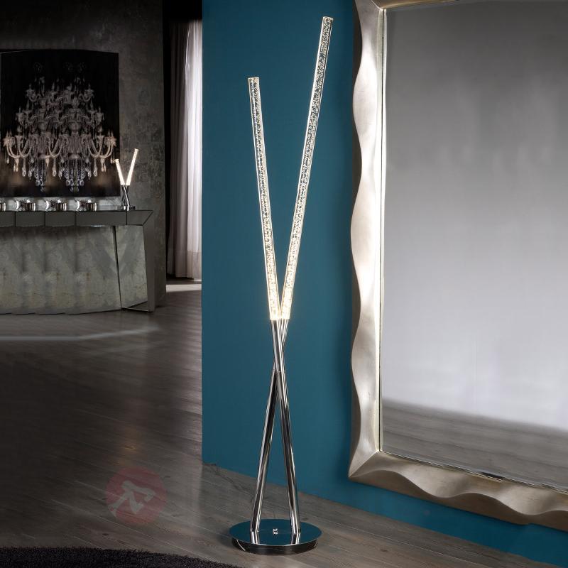Fabuleux lampadaire LED Cosmo avec tubes acrylique - Lampadaires design
