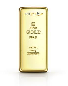 250 g Goldbarren kaufen - Der 250 g Goldbarren wird mit einem LBMA Zertifikat ausgeliefert.