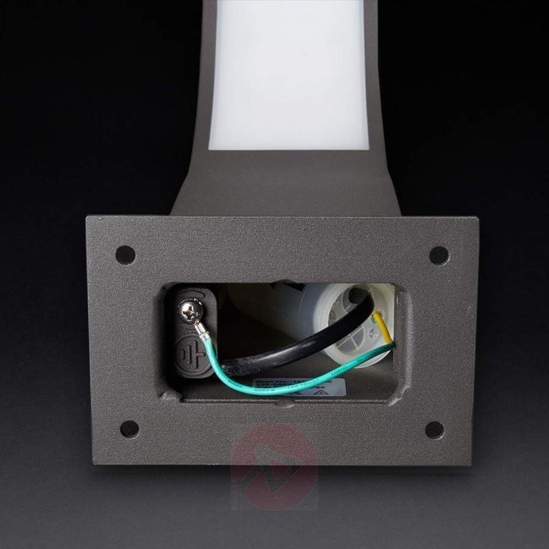 Lennik, Angled LED Pillar Lamp, 40 cm - outdoor-led-lights
