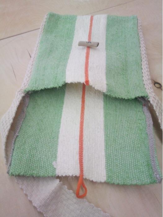 Handwoven cross-body bag! - 100% handmade! Eco style!