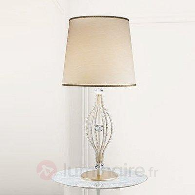 Lampe à poser ANOUK ivoire - Lampes à poser classiques, antiques