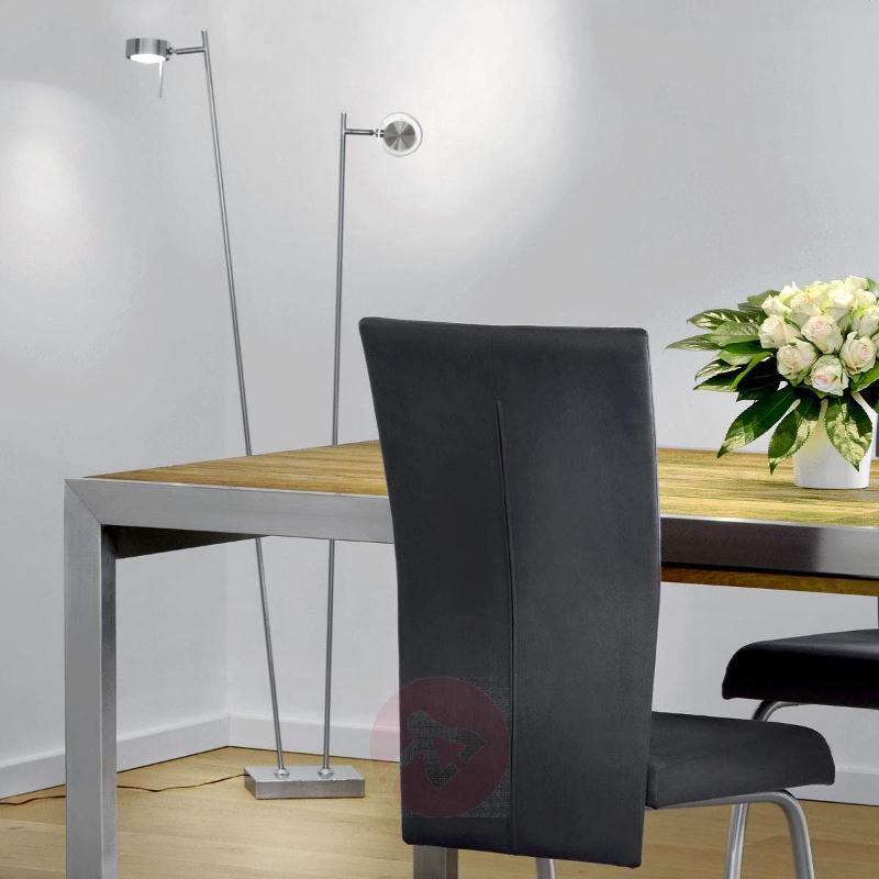 Two-bulb LED floor lamp Bling in matt chrome - Floor Lamps