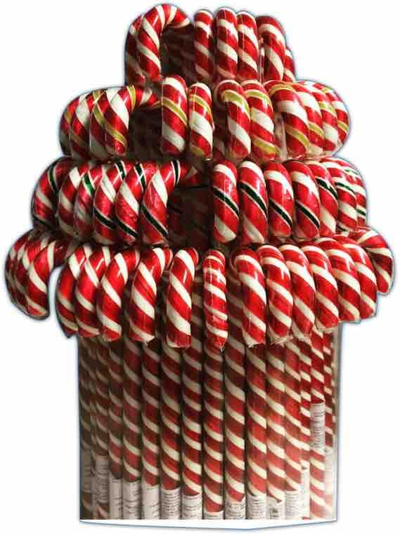 Hand made lollipops Candy canes Christmas -