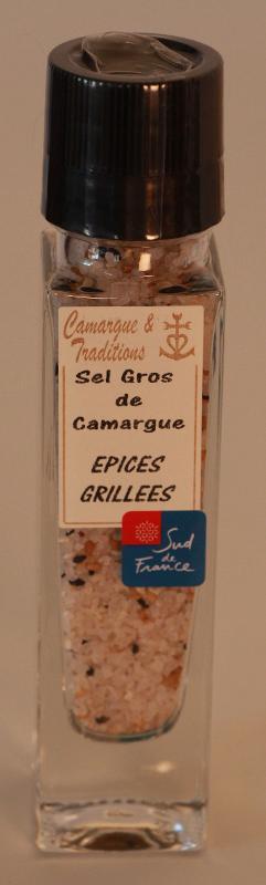 MOULIN RECHARGEABLE - SEL GROS DE CAMARGUE - EPICES GRILLEES - Epicerie salée