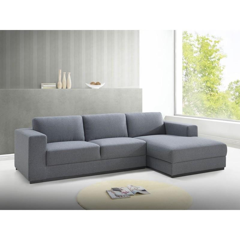 Canapé d'angle design 4 places avec méridienne MAGALIE - Vous craquerez pour ce canapé d'angle 4 personnes avec sa méridienne.