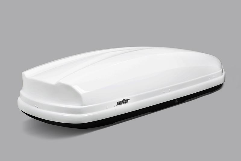 Roof box Koffer A-480 - White Glossy