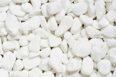 Мрамор - Снежно-белый галтованный мрамор (размеры 20-30 мм)
