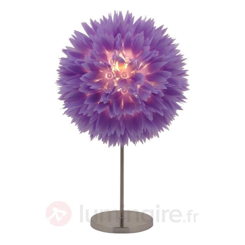 Lampe à poser FLOWER violette - Lampes de chevet