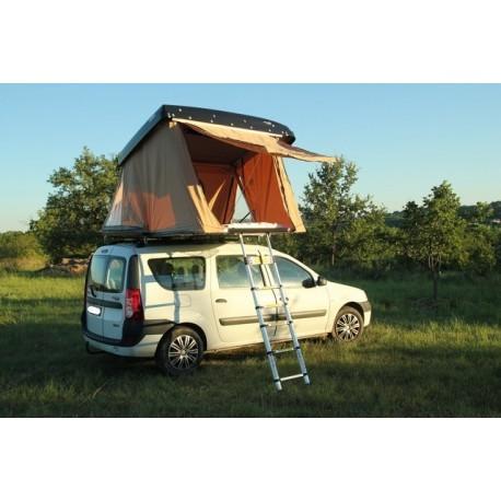 Hussarde Quatrö toute équipée - Tente complète prête à installer sur toutes barres de toit de véhicule.