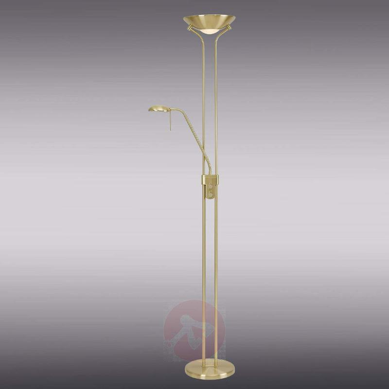 Malena Brass-Coloured Uplight with Dimmer - Uplighters