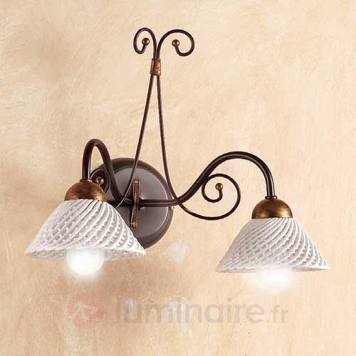 Applique à 2 lampes RETINA - Appliques rustiques