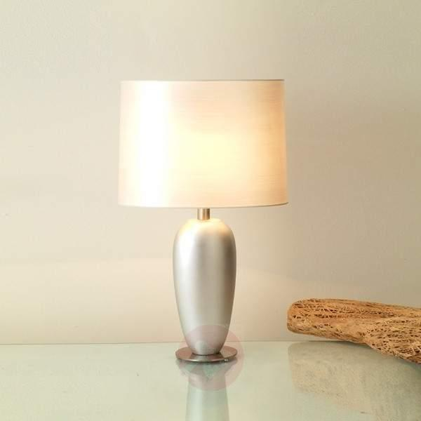 Silver table lamp LAMBDA, height 65 cm - Table Lamps