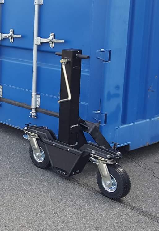 Rulli contenitori 4337.3,5 - Rulli portacontainer 4337.3,5 con sollevatore 3,5 tonnellate su terreno solido