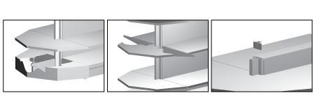 Modular shop rack systems & instore interior shelving design - Pentagonal & Round gondola head