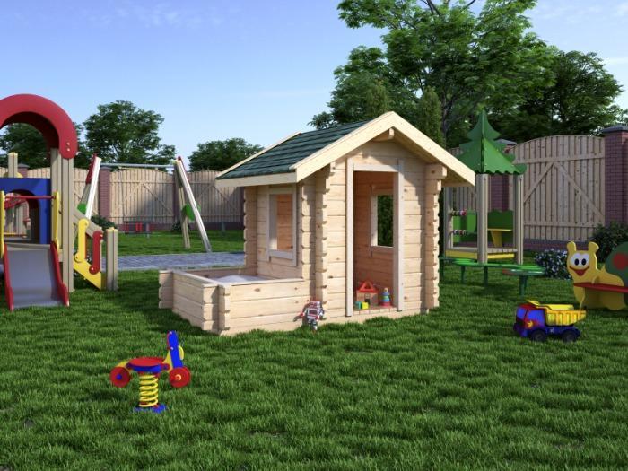Children's house  - 1.5x2.5m with a sandbox