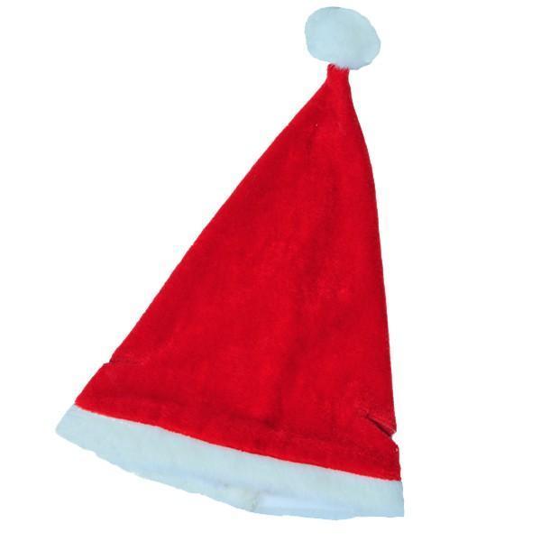 """Christmas Hat (16"""") w/Ear Elastics (40cm) - null"""