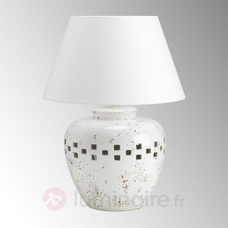 Lampe à poser Antica Toscana hauteur 60 cm - Lampes à poser en tissu