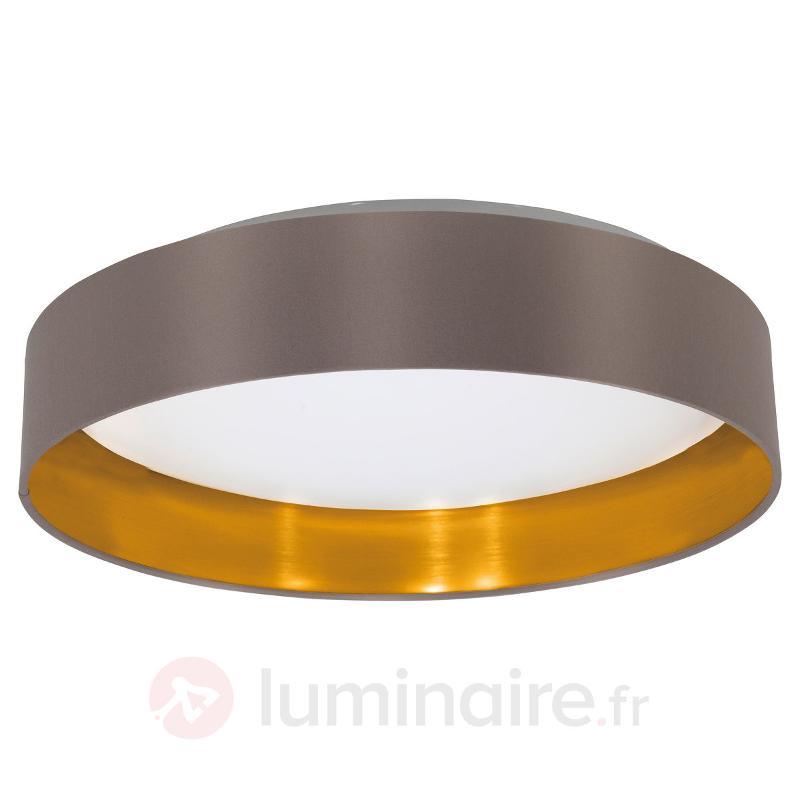 Plafonnier LED Carpi en textile - Plafonniers LED