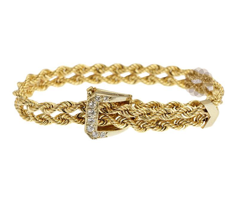 Diamond Buckle Bracelet -