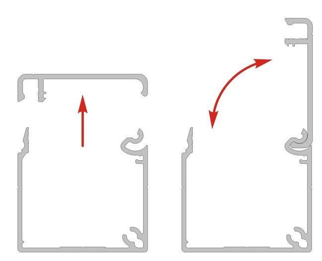 Kablo kanalı - Katma değer sağlayan alüminyum sistem - Montajı kolaylaştırır
