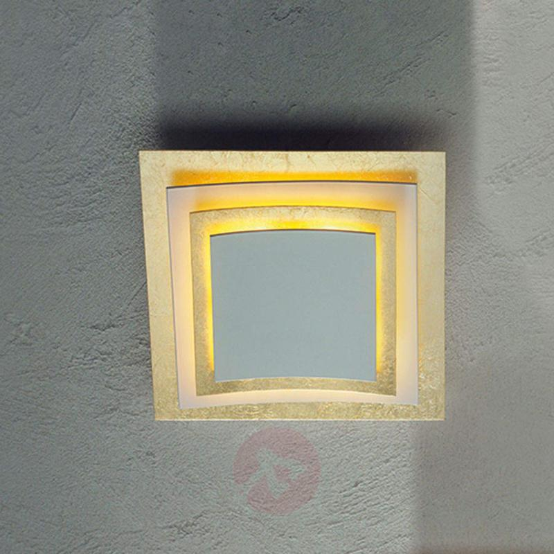Wall and ceiling light Pages with gold leaf 22 cm - design-hotel-lighting