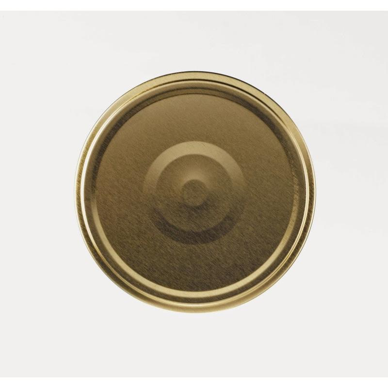 100 caps TO 63 mm Gold color for sterilization with flip - GOLD