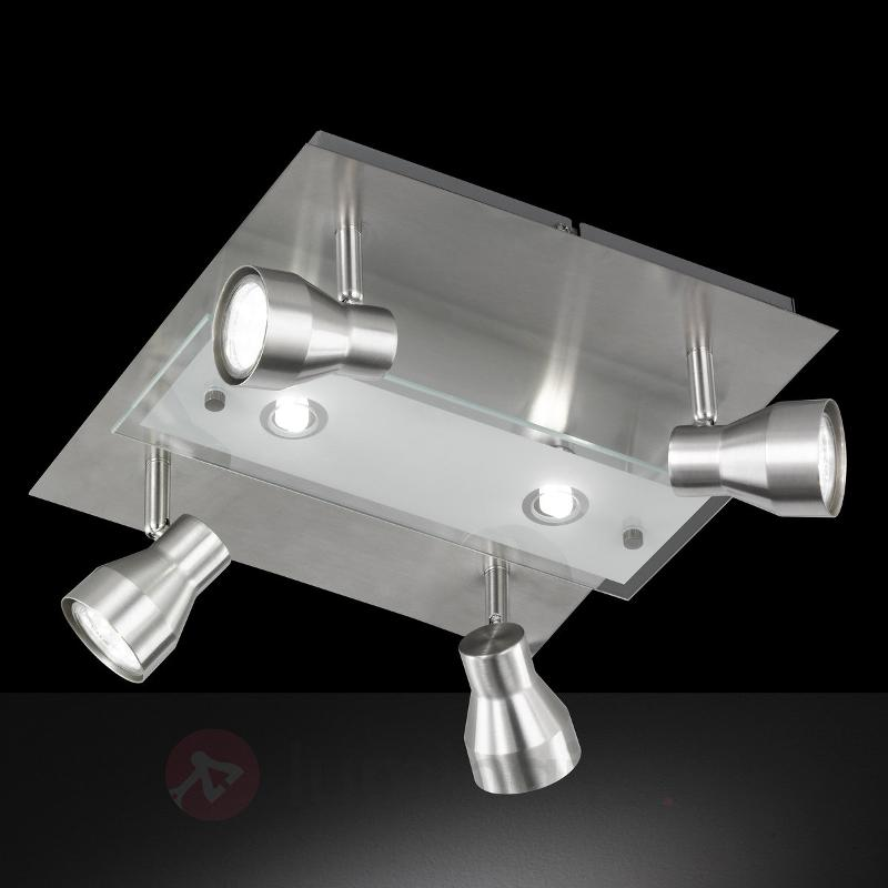 Rox - beau plafonnier LED - Plafonniers chromés/nickel/inox