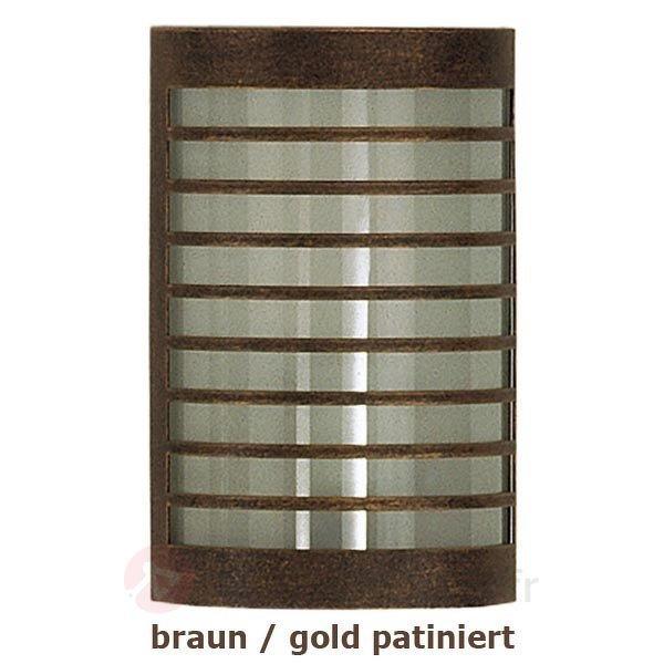 Applique TERU patinée brun doré - Toutes les appliques d'extérieur
