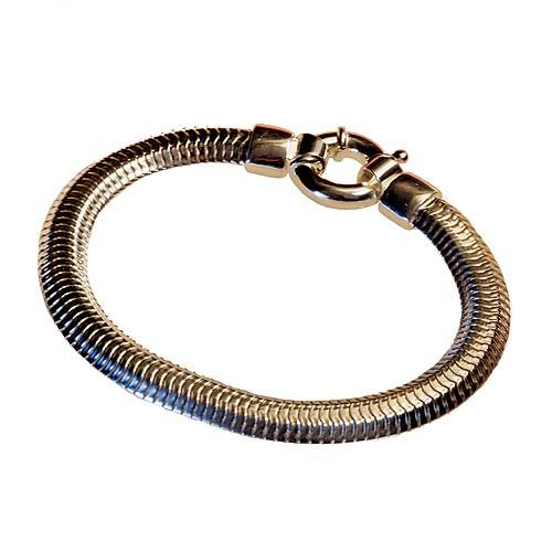 """silver bracelet double chain type """"snake"""" Reference  PA -"""
